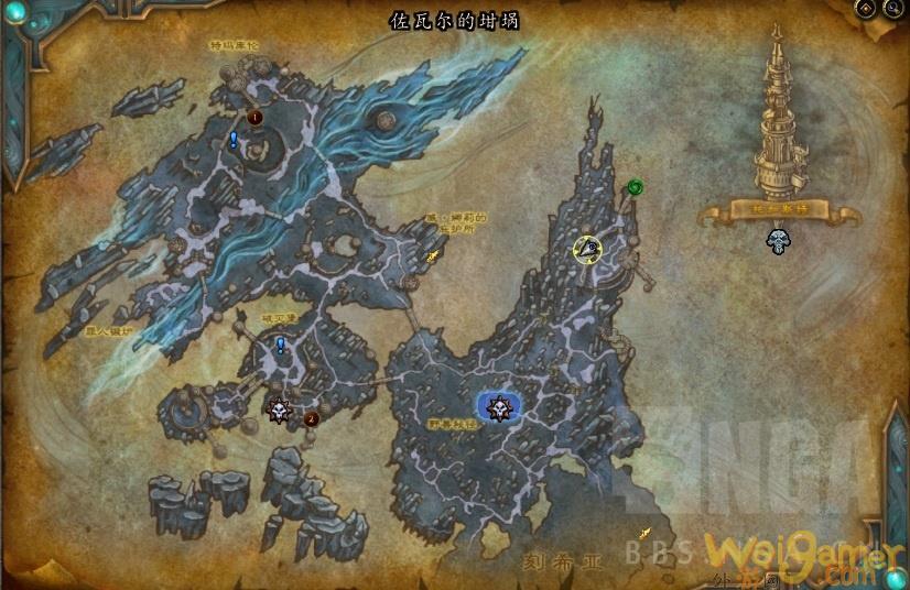 《魔兽世界》灰白恐握抓取地点