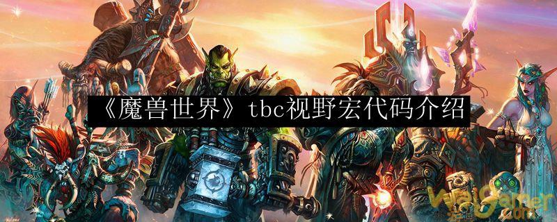《魔兽世界》tbc视野宏代码介绍